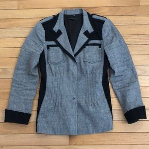 Elie Tahari Gray Light Blazer/Jacket